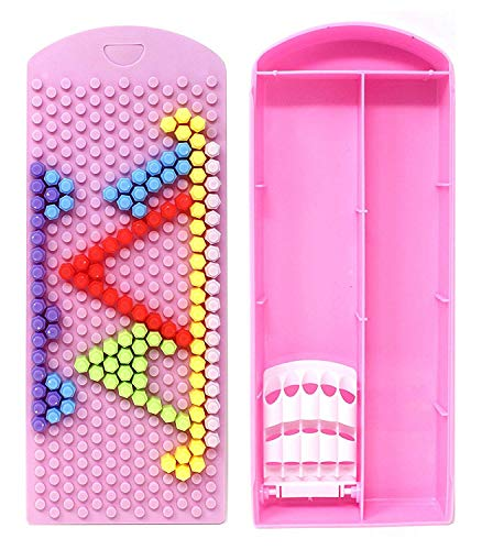Raaya Brain Teasing Puzzle Pencil Box for School Use, School Accessories for Kids, Students, Girls, Boys, Pink, 30 Gram, Pack of 1