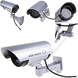 VelKro 4pcs Outdoor surveillance Fake IP camera Indoor Surveillance Security Camera Dummy Night CAM LED Light safe home FC