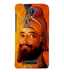Fuson 3D Printed Lord Guru Gobind Singh Designer Back Case Cover for Micromax Canvas Spark Q380 - D522