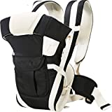 Chinmay kids Adjustable Hands-Free 4-in-1 (with Comfortable Head Support & Buckle Straps) Baby Carrier Baby Carrier (Black)