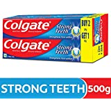 Colgate Strong Teeth Anti-Cavity Toothpaste – 500g (400gm + 100 Free)