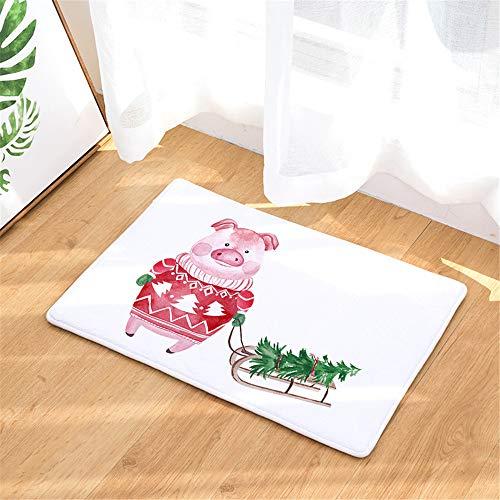 FEIYANG Decoración navideña Cerdo Trineo árbol