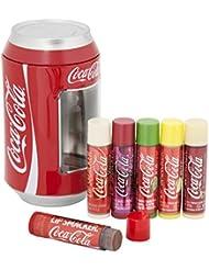 Markwins – Lip Smacker Coca Cola Dose mit 6 Lippenpflegestiften in unterschiedlichen Geschmacksrichtungen