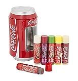 Lip Smacker Caja de metal de Coca Cola con 6 bálsamos labiales de...