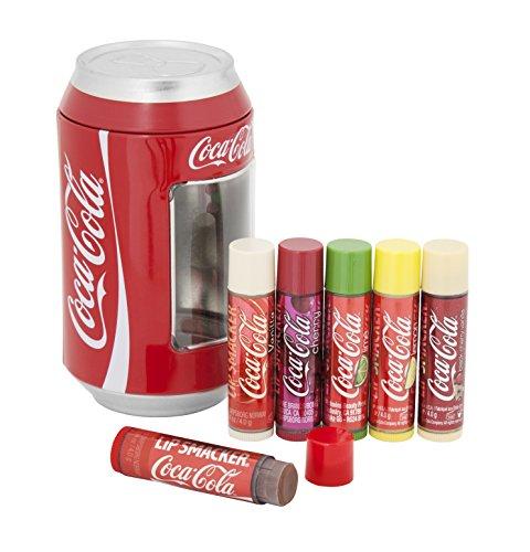 Markwins – Lip Smacker Coca Cola Dose mit 6 Lippenpflegestiften in unterschiedlichen...