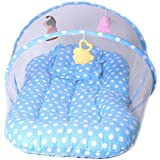 Chinmay Kids Cotton Kids Cotton Padded Toys Mosquito Net (Sky Blue)