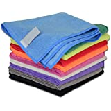 Dip N Dry Microfiber Cleaning Cloth For Home, Car & Bike Cleaning Set Of (2) (40 Cm X 40 Cm, Muticolor, 400GSM.)