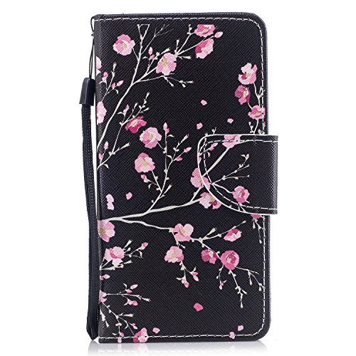 Preisvergleich Produktbild Samsung Note 8 Hülle,  Edaroo Rosa Kirschblüte Design PU Leder mit Weich Silkon TPU Inneren Dünn Stoßfest Book Case Magnetverschluss Klapphülle Cover für Samsung Galaxy Note 8