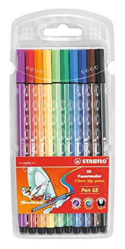 stabilo-lot-de-10-feutres-pen-68-swano-edition-avec-tui