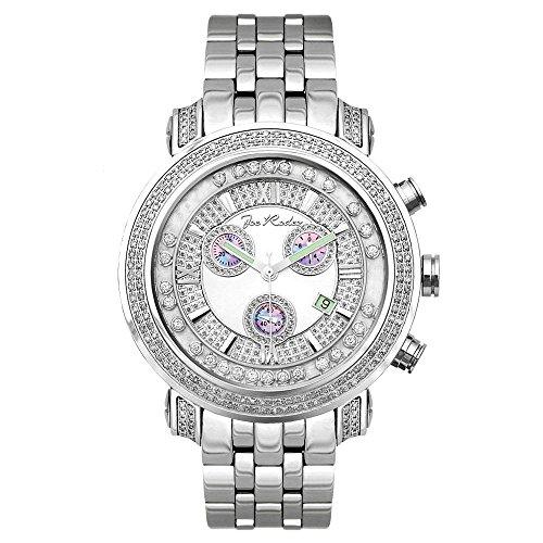 Joe Rodeo Diamond Men's Watch - TYLER silver 2 ctw