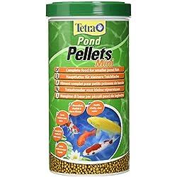 Tetra Pond Pellets Mini, alimento de peces completo para peces pequeños estanques, 1 litro
