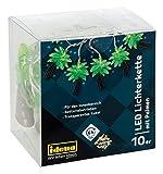 Idena LED Lichterkette, für innen, mit 10 LED in Palmenoptik und Timer, 30133
