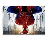 Hanging Spiderman Wandbild 120x80cm XXL Bilder und Kunstdrucke auf Leinwand