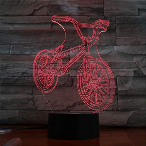 Das elektrische Motorradauto, das 3D modelliert, beleuchtet Illusionsnachtlicht LED-Birnenmehrfarbennote USB-niedrige Lava RGB-Schlafzimmerbeleuchtung ## 7 -