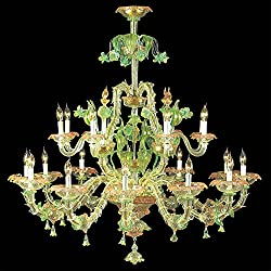 artedim Urano Candelabros Exclusive a mano, Made in Italy, Made with Murano Glass