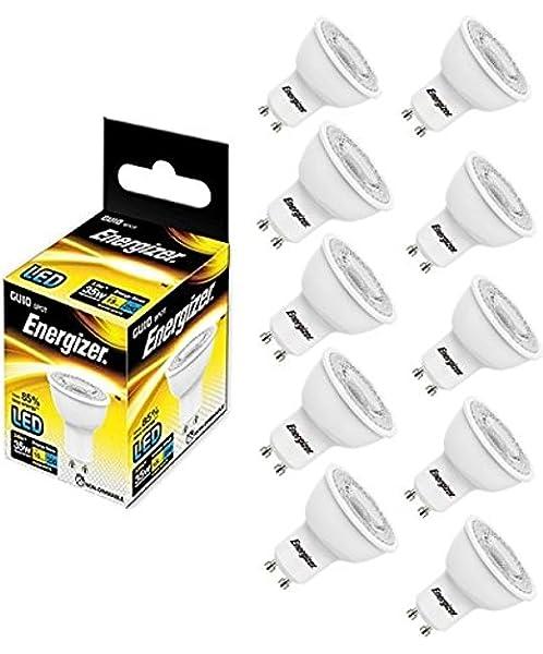 DEL GU10 Spotlight Ampoule 36 ° Blanc chaud 3000k = 35 W Energizer 3.6 W Beam