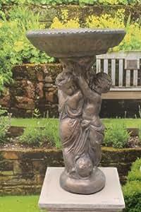 Geoffs Garden Ornaments Gartendeko Vogeltränke, Kunststein, Engelfiguren
