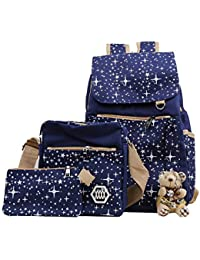 Futurekart 3-in-1 Combo Canvas Royal Blue Backpack Cross Body Bag and Wallet