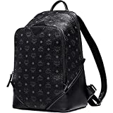 100% Authentic MCM Duke VISETOS Medium Backpack leather Black MMK5SDK04BK with Dust Bag