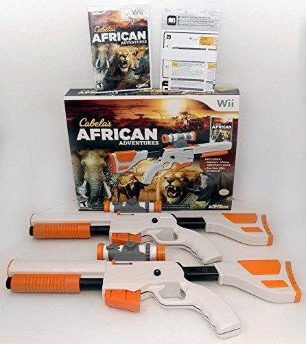 Top-shot-elite-wii (Wii/Wii-U Cabela's African Adventures Game w/Top Shot Elite Set 2-GUN BUNDLE by Cabela's)