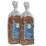 BIO Dinkel Maroni Nudeln Spirelli 2 x 250 g / Vorteils-Set / Urdinkel / Kastanienmehl / ohne Ei / vegan / Rohkostqualität / Gourmetnudeln
