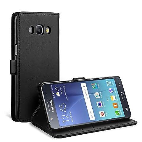Coque Samsung Galaxy J5 2016, Simpeak Housse en Cuir Flip Case Coque de Protection pour Samsung Galaxy J5 2016 avec Carte Fente [Stand Feature][Fermeture Magnétique]