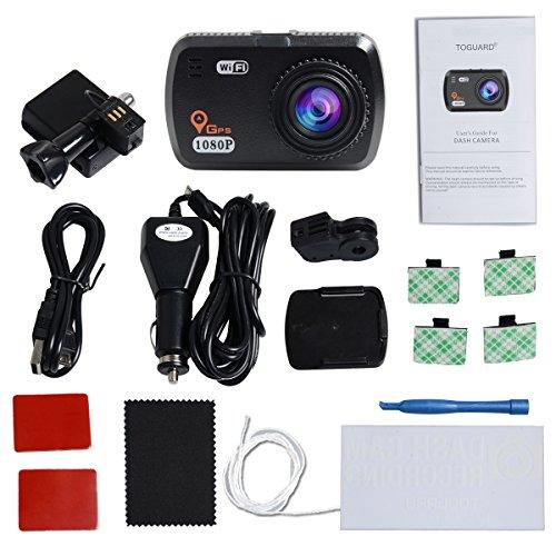 TOGUARD In van Dash Cam with the help of GPS WIFI extensive HD 1080P little van Dash Camera Parking MonitorLDWSG SensorWDRLoop RecordingSupport CPL form of filtration van Driving Recorders