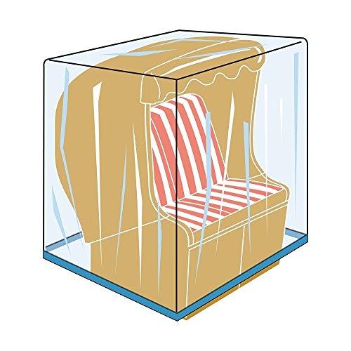 Deluxe Schutzhülle mit Ösen für einen Strandkorb, 160x115x135 cm, in praktischer Tragetasche, von Landmann