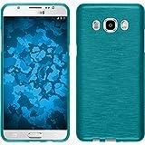 Funda de silicona para Samsung Galaxy J5 (2016) J510 - brushed azul - Cover PhoneNatic Cubierta + protector de pantalla