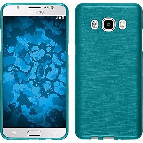 Funda de silicona para Samsung Galaxy J5 (2016) J510 - brushed azul - Cover PhoneNatic Cubierta + protector de