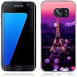 Coque Samsung Galaxy S7 Edge, Fubaoda [tour Eiffel] artistique Série Peinture Étui TPU silicone élégant et sobre pour Samsung Galaxy S7 Edge (G935)