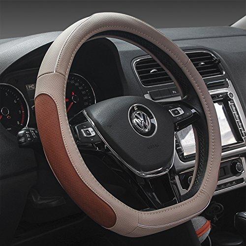 """HCMAX D Typ Fahrzeug Lenkradabdeckung Auto Lenkradschutz D-Form Durchmesser 38cm (15"""") [Flacher Boden]"""