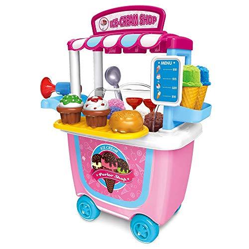 E t gioco di ruolo bambini fai finta di giocare apprendimento dei colori alimentari carrello per gelato giochi per bambini per bambini da 2 3 anni 31 pezzi