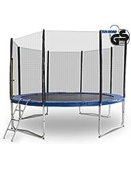 Gartentrampoline Trampoline Outdoor-Trampoline Fitness-Trampoline 185cm bis 490cm , inkl. Randabdeckung, Sicherheitsnetz und Leiter