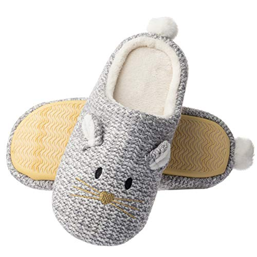 Tofern Women Soft Plush Cute Animal Warm Winter Non Slip Sole House Slipper comfortable Indoor Home Shoes