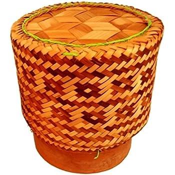 2 X Thai Bambuskorb Reiskorb 13 X 15cm Zum Stilechten Garen Und