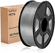 SUNLU 3D Printer Filament PETG, Red PETG Filament 1.75 mm SUNLU,Low Odor Dimensional Accuracy +/- 0.02 mm 3D P