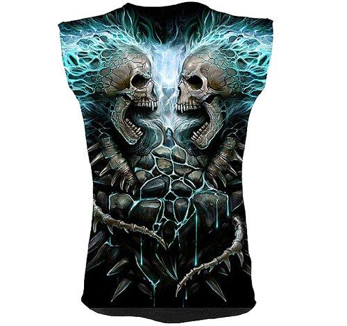 Preisvergleich Produktbild Spiral für Herren 'Flammenden Wirbelsäule' Ohne Shirt Schwarz Größe M - XL
