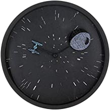 """Reloj de pared redondo con efecto lenticular 3D Star Wars """"Death Star"""""""