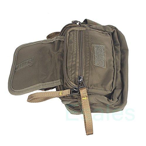 Innturt Bauchtasche, Nylon, mehrere Taschen Armeegrün