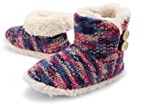 Zapatillas de Mujer con Perro Peluche Super Suave Zapatilla de Invierno Mujeres (36/37 EU, punto púrpura)