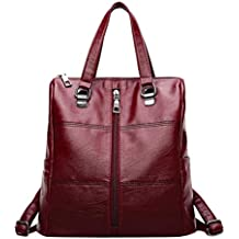 f838e21889070 ALIKEEY 2018 Vintage ♈ Girl Leather School Bag Mochila Satchel Mujeres  Viaje Bandolera Con Cremallera De