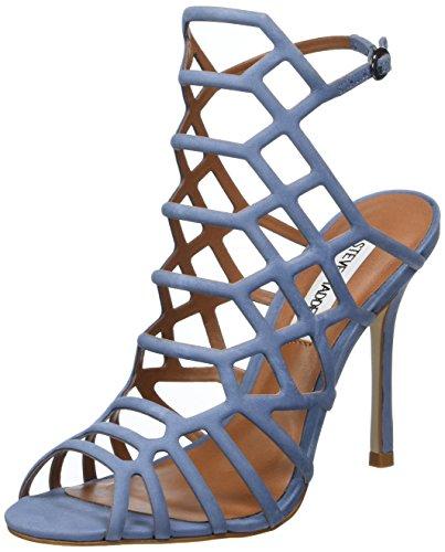 Steve Madden Damen Slithur Sandal Offene, Blau (Light Blue), 38 EU (Sandale Für Damen Von Steve Madden)