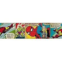 Marvel Comics - Cenefa autoadhesiva (5 m x 16 cm)