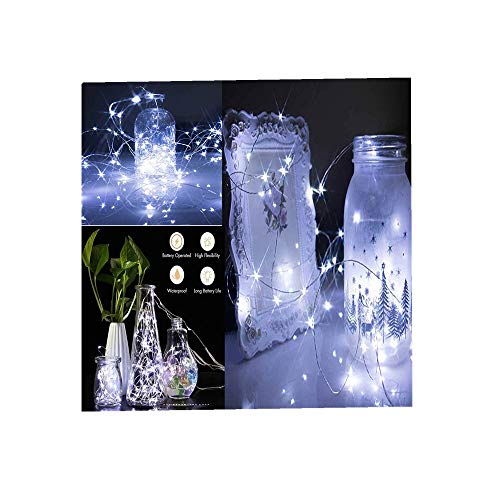 m 30LED Fee Licht Zeichenfolge Licht Batterie Sternenklar Zeichenfolge Kupfer Draht Dekor Weihnachten Wohnaccessoires Beleuchtung String Light (Weiß,6 PC) ()