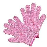 TianranRT Sicherheit Schnitt Beweis Stich beständig Edelstahl Stahl Handschuhe Metall Masche Metzger (Rosa,L)