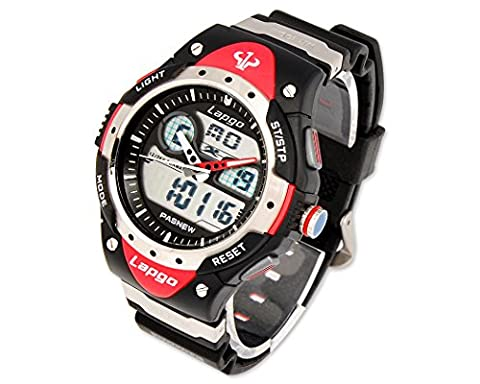 HighQuality PASNEW Water-proof Dual Time Boys Girls Sport Watch N5