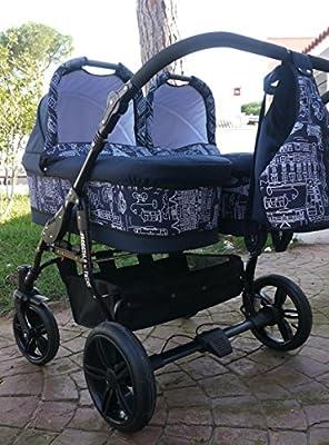 Zwillingswagen. 2 x Buggy, 2 x Babywanne, 2 x Babyschale, 2 x Polare sacken.