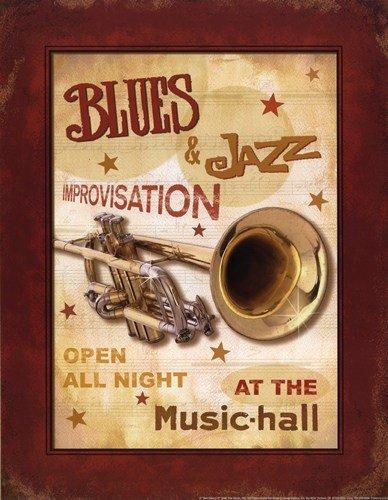 rleans Jazz Iv von Pela Poster (11 X 14) ()