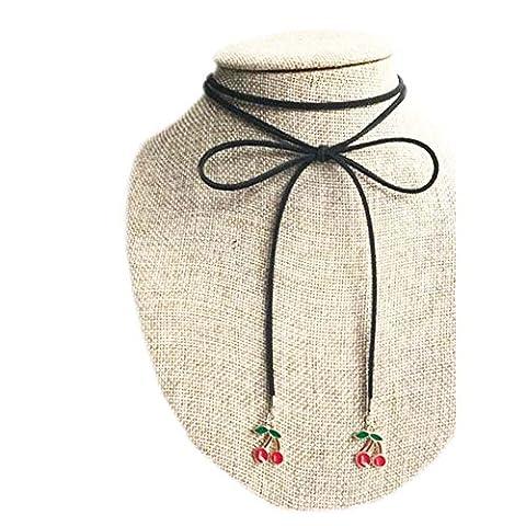 Schöne Halskette Mode Schwarze Samt Schnur Hals Seile